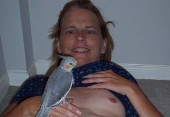 donna, the bird lady from alcatras