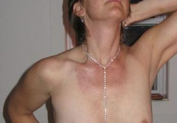 Shy Wife Showing Her New Jewlery