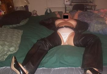 wife in leather