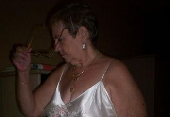 Mature Bbw In White Satin