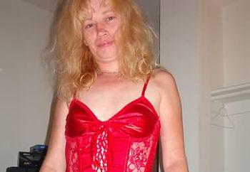 hot blond in lingerie