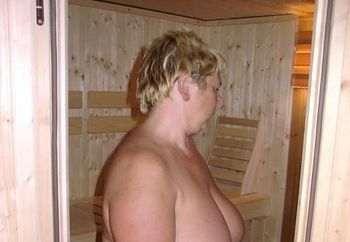 Hairy Wife Sauna