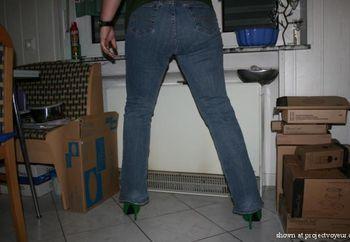 Kat In Green Heels