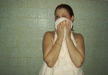 24 y/o surprised in shower