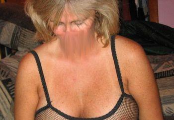 hot blonde in fishnet