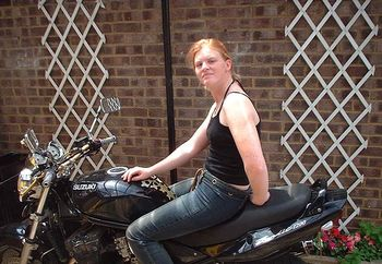 kat on a bike