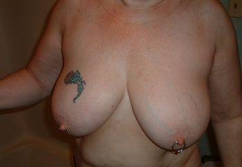 my wifes big tits