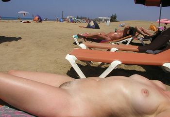 wife on nudist beach & in hotel