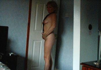 posing wife