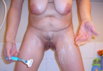 Hot Wife Shaving