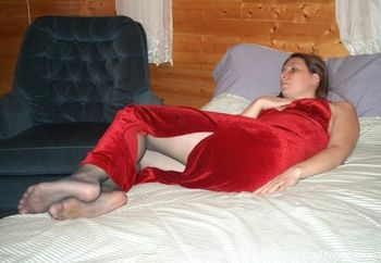 23 Year Old Wife Red Dress