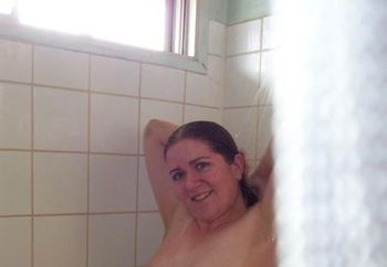 Kim In The Shower