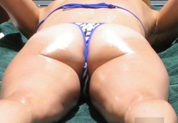 Oiled Up Thong Bikini