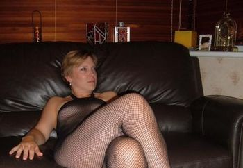 Jes In Black Body Stocking