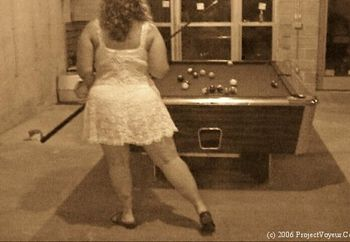 My Wife Playing Pool
