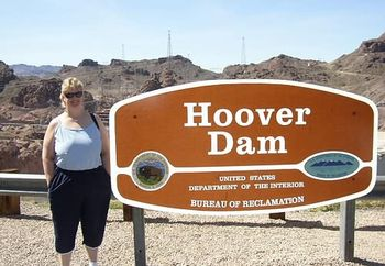 wife at the hoover dam