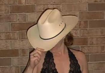 cowgirl in black teddy