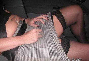 Wifes Fun In Car
