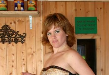 Lisa In The Hot Sauna