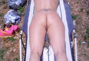 Hot Wife Sun Bathing