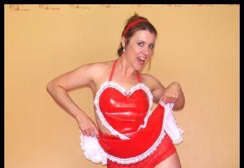 Tess In Red Pvc