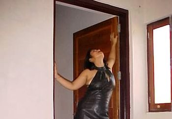 my sexy leather dress