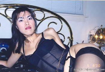 mika-lee  black lingerie