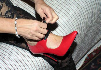 Cinthya In Red Shoes