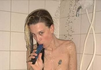 linda under the shower #2