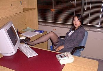 Angie At The Office