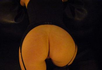 Naughty girl in her new corset