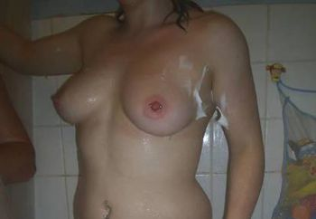 Louisa in the shower