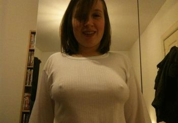 Scottish 21 year old STIFF nipples