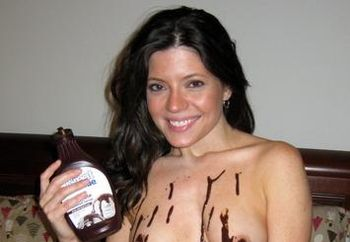 Chocolate Fun In Bedroom
