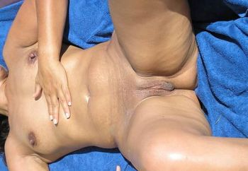 Tanning wife.