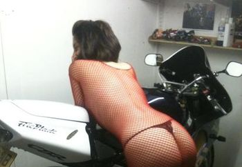 sexy bike chick!