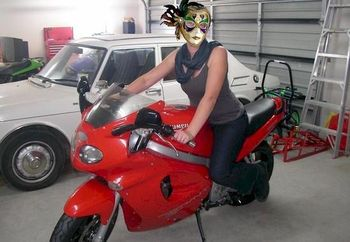 L on the bike