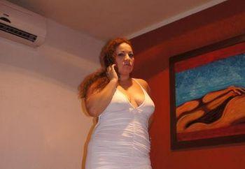 Paula, white dress