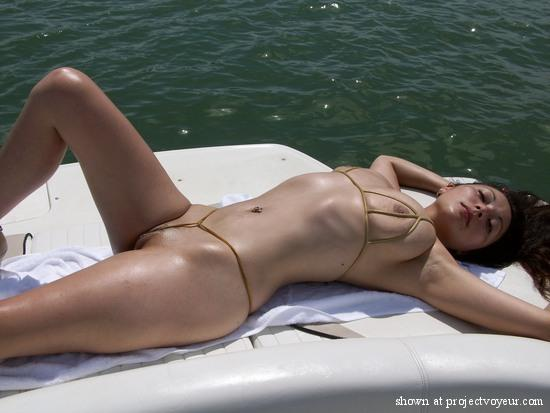 Girls naked wives boating