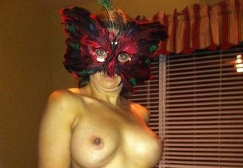 Masked wife.