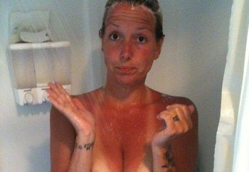 40 yr old mother of 2 in the shower