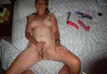 enjoying sex toys