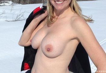 Going for an erotic snowmobiile ride....