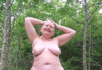 Naughty Mature Woodland Strip