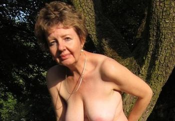 ivana  loves stripping of in her garden