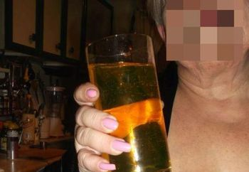 shy wife has a drink picked the six