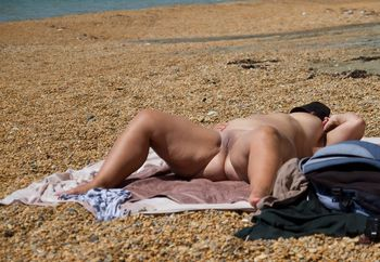 Nude at the beach for all to see