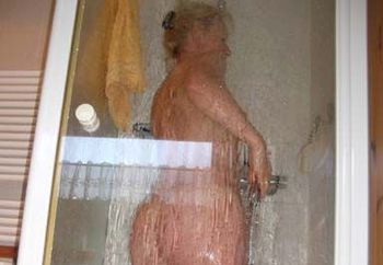 my mature in the shower