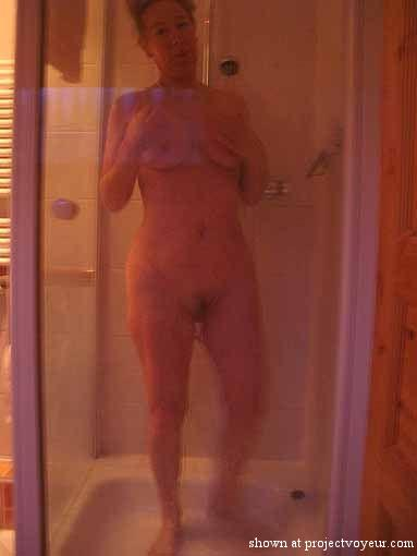 my mature in the shower - image5