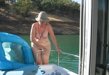 The wife skinny dipping
